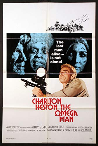 THE OMEGA MAN CHARLTON HESTON FUTURISTIC SCI-FI 1971 ORIGINAL 27X41 ONE SHEET MOVIE POSTER