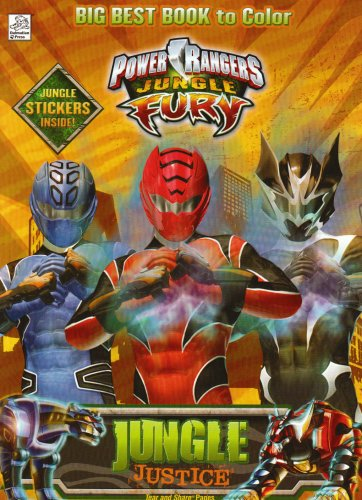 Jungle Fury, Jungle Justice Power Rangers Big Best Book To Color
