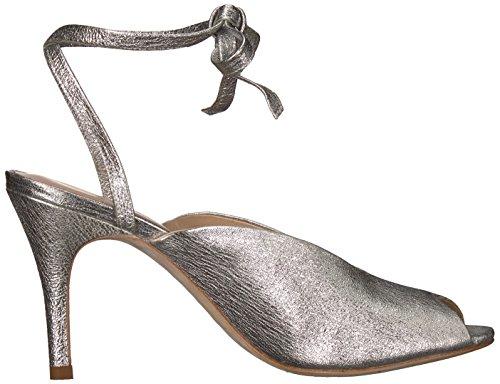 Loeffler Randall Women's Mila (Crinkle Metallic) Heeled Sandal Silver I2tM2hU8
