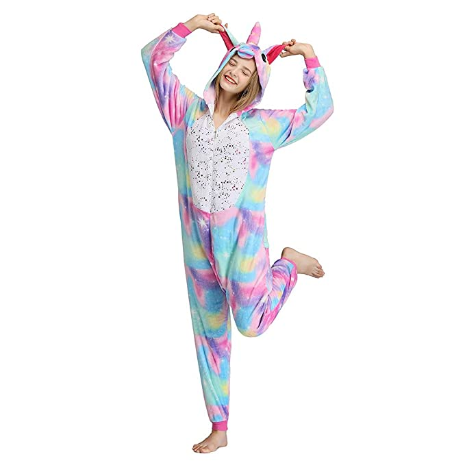Amazon.com: Pijama unicornio para adultos, unisex, de una ...