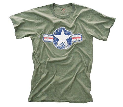 Vintage Army Air Corp Olive Drab T-shirt (Small, Green) by Rothco