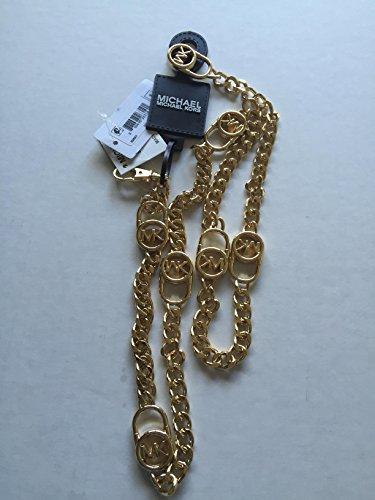 MICHAEL Michael Kors Women's Hamilton Lock Chain Link Belt, Gold, MD/LG
