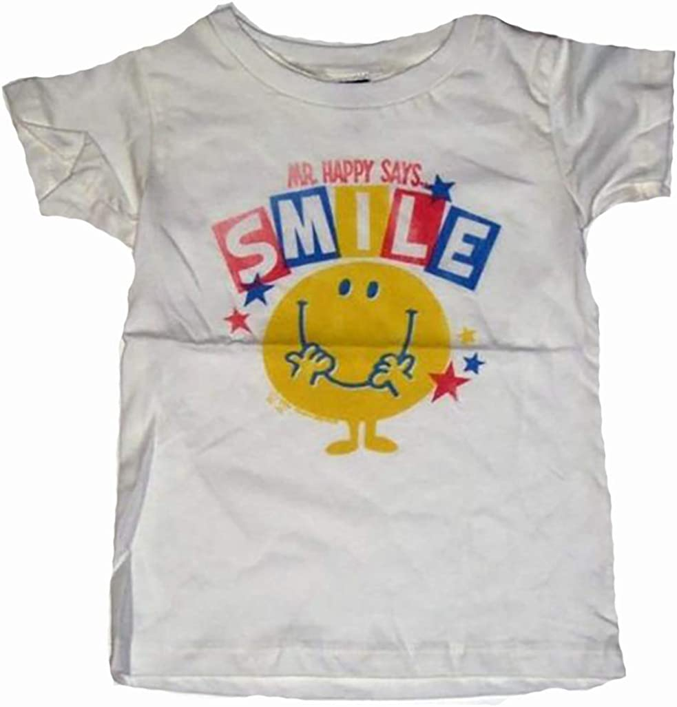 Junk Food Mr. Happy Says Smile Kids T-Shirt