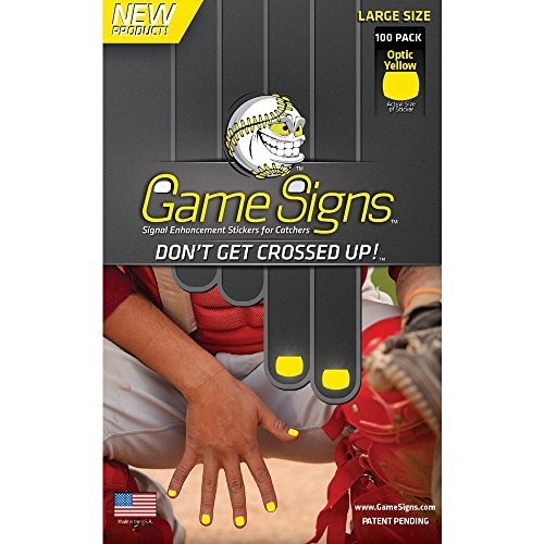 Game Signs Catcher Signal Enhancement Stickers, Large, Optic Yellow Catcher Game