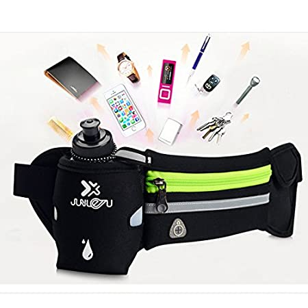 for Exercise Gym Fitness Cycling Hiking Suitable for Most of The Smartphones for Men and Women Running Belt Hydration Belt Waist Belt Waist Bag with One Water Bottle