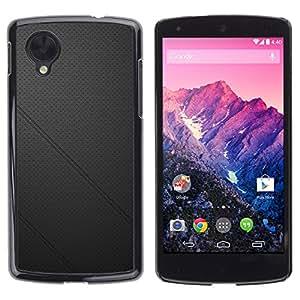Paccase / SLIM PC / Aliminium Casa Carcasa Funda Case Cover - Black leather - LG Google Nexus 5 D820 D821