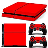 FriendlyTomato PS4 Console and DualShock 4 Controller Skin Set – Red Color – PlayStation 4 Vinyl Colour