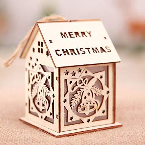 H+K+L Christmas Ornaments LED Translucidus Multi-picture Combination Light Chalet Hotel Bar Christmas Tree Decoration (F)