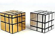 Cubo Mágico Mirror Cube Blocks Shengshou Profissional (Prateado)