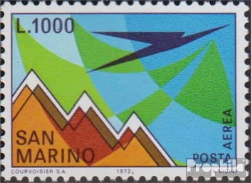 San Marino 1016 (Complete.Issue.) 1972 Post Flight Mark (Stamps for -