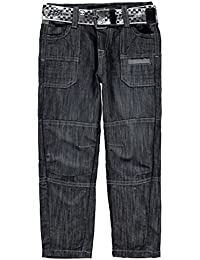 Kids Boys Belt Cargo Jeans Infant Bootcut Pants Trousers Bottoms
