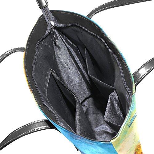 COOSUN Windmühlen PU Leder Schultertasche Handtasche und Handtaschen Tasche für Frauen