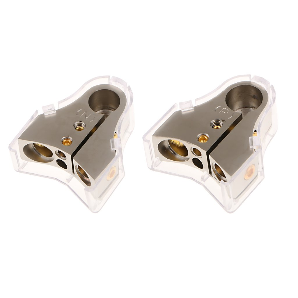MagiDeal 1 Pair Battery Terminal Positive/Nagative Clamps Connector 0 2 4 8 Gauge AWG
