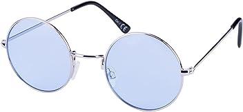 SIX Runde Retro Lennon Sonnenbrille mit blauen Gläsern (324-237)