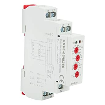 Voltage Monitoring Relay GRV8-05, 3-Phase 4-Wire Voltage