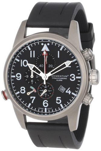 Momentum Men's 1M-SP32B1B Titan III Analog Alarm and Chronograph Watch