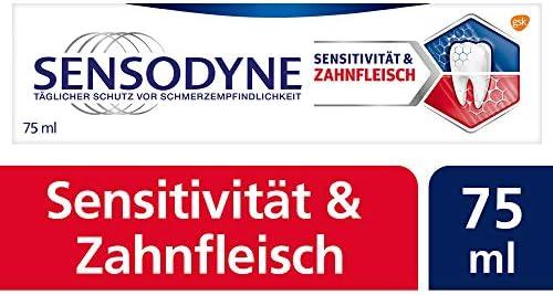 [Gesponsert]Sensodyne Sensitivität & Zahnfleisch, Tägliche Zahnpasta mit Fluorid, 1x75ml, bei schmerzempfindlichen Zähnen