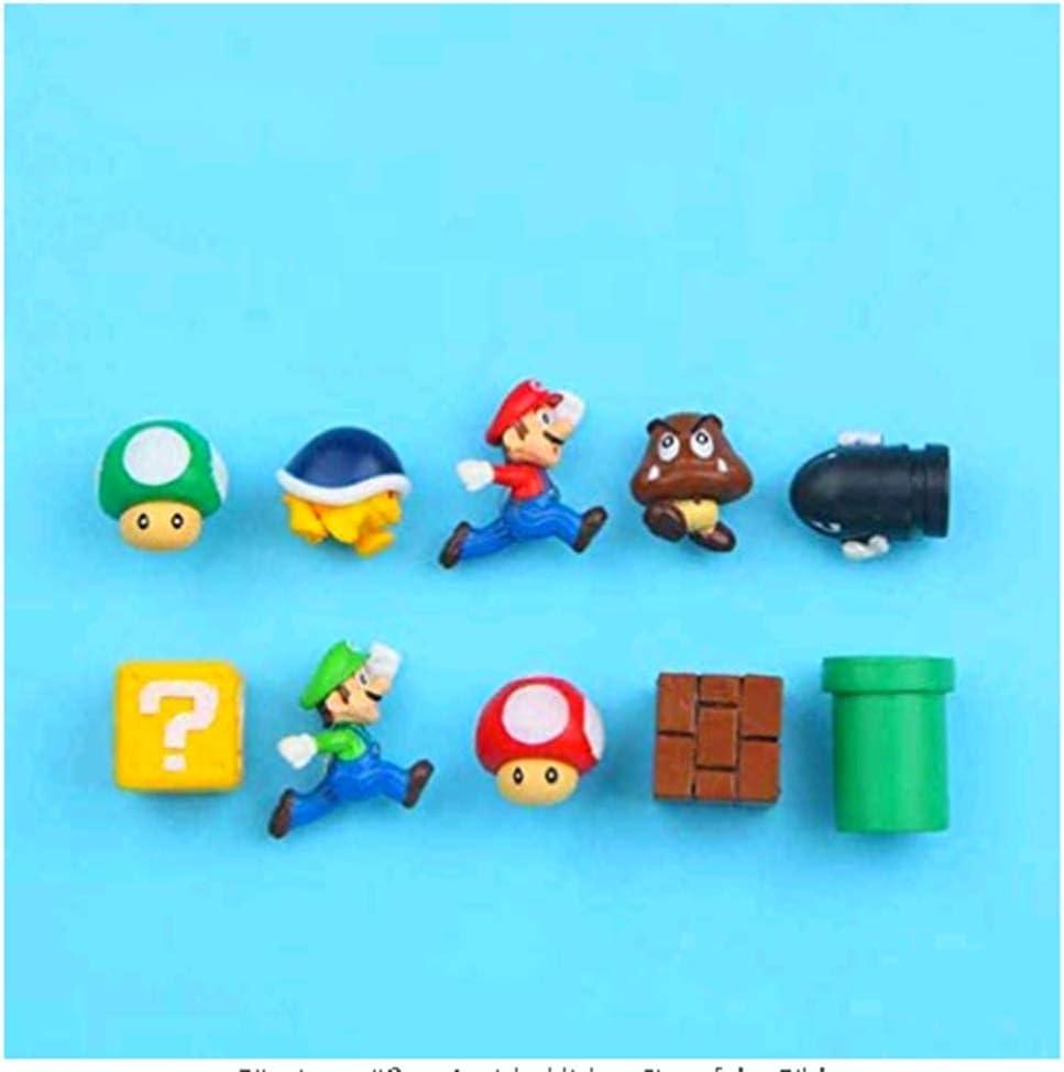 Ligoi - 10 imanes 3D de Super Mario Bros para nevera con mensaje adhesivo para adulto, niña, niña, niña, niños, juguete regalo de cumpleaños, color amarillo: Amazon.es: Hogar