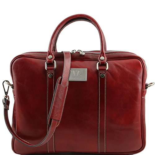Unique Rosso Leather Taille Spalla Tuscany A Borsa Donna 0XwAFz