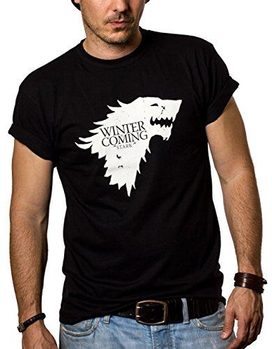 Makaya Men's T-Shirt - Winter Is Coming Stark Black Size XXXL
