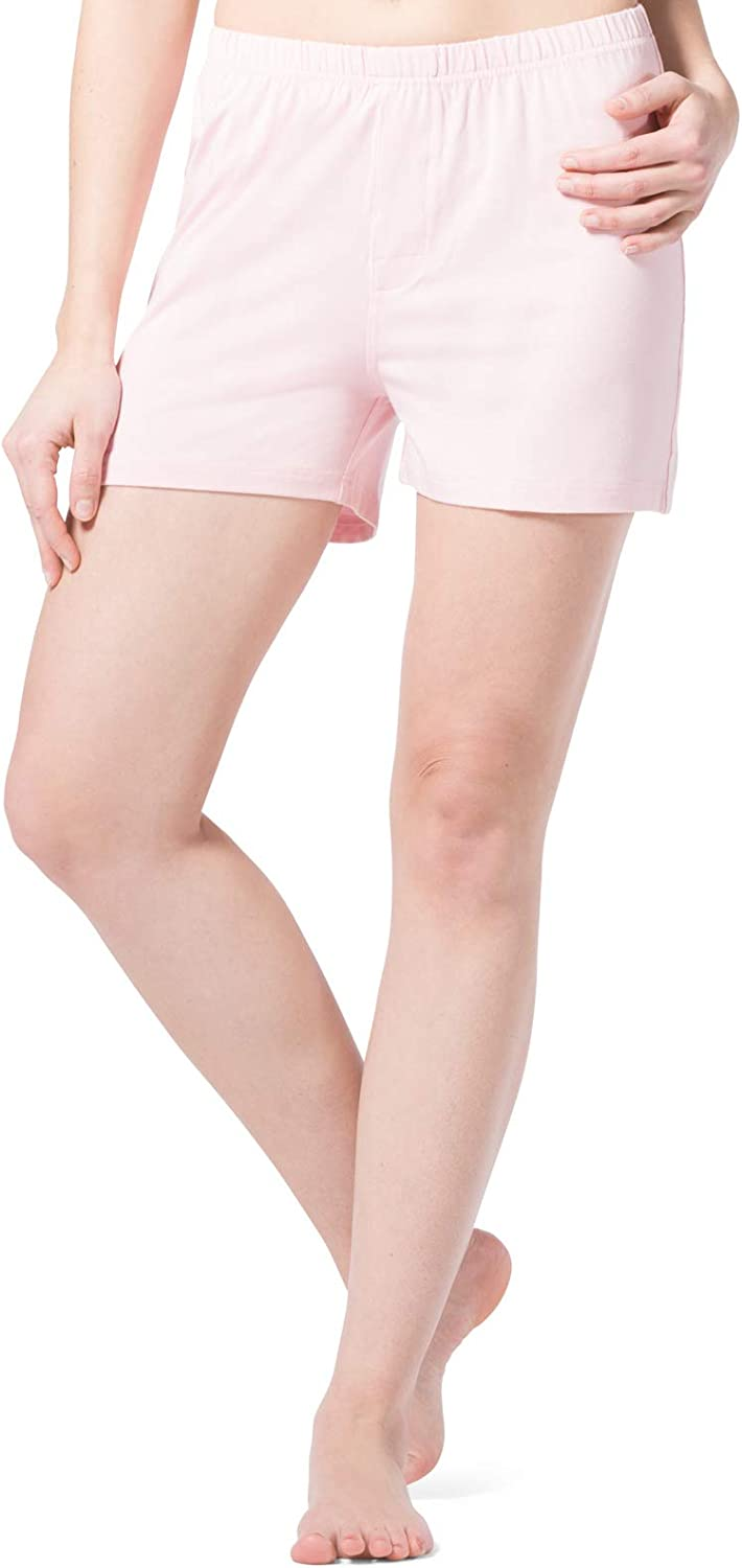 Fishers Finery Organic Cotton Bamboo Viscose Sleep Shorts for Women