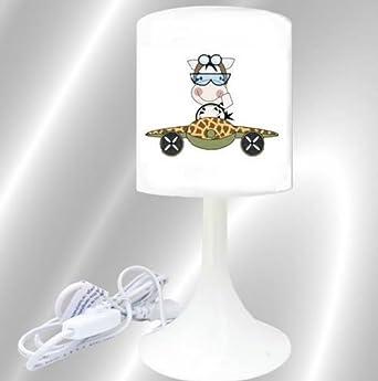 Lampe Chevet Création Jungle Safari De Avion Savane L'idée'all Zebre 4j5Ac3RLq