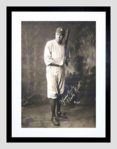 Framed Babe Ruth (SPORTGRAPH PORTRAIT BABE RUTH BASEBALL FIGURE AUTOGRAPH FRAMED PRINT B12X11275)