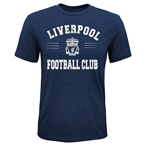 Outerstuff International Soccer Liverpool Youth Boys Traditional Short Sleeve Tee, X-Large (18), Navy