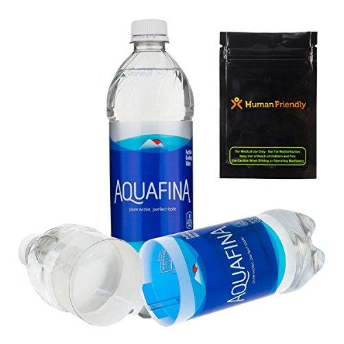 (Aquafina Diversion Safe Water Bottle Stash Can w HumanFriendly Smell-Proof Bag)