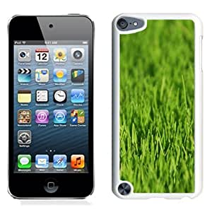 Lovely and Durable Cell Phone Case Design with Green Grass Closeup iPod Touch 5 Wallpaper 2 in White
