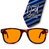Swannies Perfect Father's Day Gift - Blue Light Blocking Computer Glasses with Orange Lens for Night Use - UV Protection Anti Eye Strain Tired Eye Relief - Henley Style (Tortoise Shell) Regular
