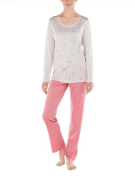 Calida St.Yves Pyjama, Conjuntos de Pijama para Mujer, Rosa (Pearl Rose 80), 42 (Talla del Fabricante: S): Amazon.es: Ropa y accesorios
