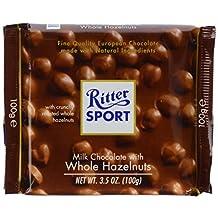 Ritter Sport Milk Whole Hazelnut Chocolate Bar 100 Gram