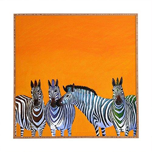 Deny Designs Clara Nilles,  Candy Stripe Zebras, Framed Wall Art, Small, 12