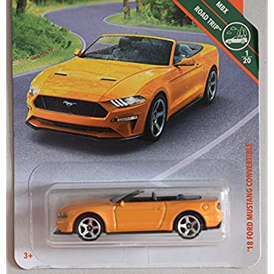 Matchbox 2020 MBX Road Trip '18 Ford Mustang Convertible 4/100, Orange: Toys & Games