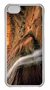Customized iphone 5C PC Transparent Case - Tsegi Canyon Navajo National Monument Arizona Personalized Cover
