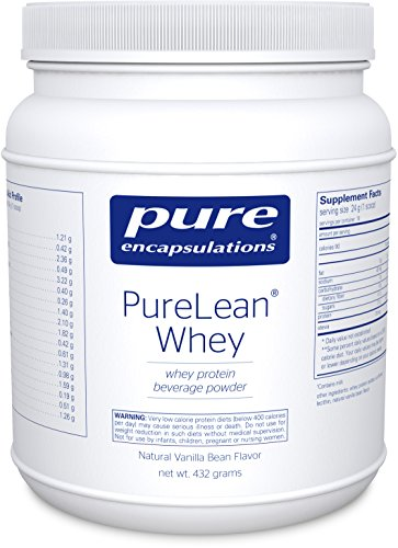 Pure Encapsulations - PureLean Whey - Whey Protein for Healthy Weight Management** - Natural Vanilla Bean Flavor - 432 ()