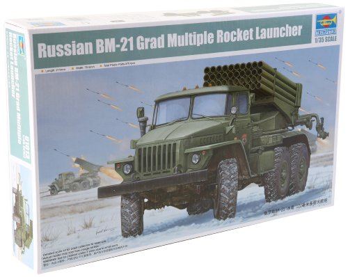 - Trumpeter Early Version BM-21 Russian Grad Multiple Rocket Launcher Model Kit, Scale 1/35