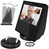ATOPHK Echo Show Stand, Echo Spot Stand, Aluminum Stand for Amazon Echo Show Spot Google Home Speaker Accessories, Horizontal 360 Rotation, Longitudinal Angle Change Base ES001-Black