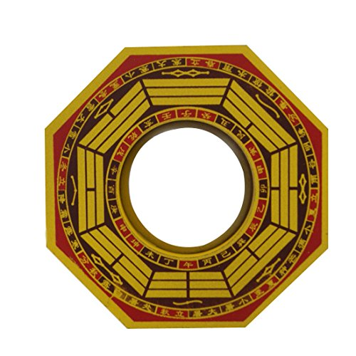 Divya Mantra Feng Shui Vastu Bagua Mirror Convex Wall Hanging for Positive Energy Others Yellow