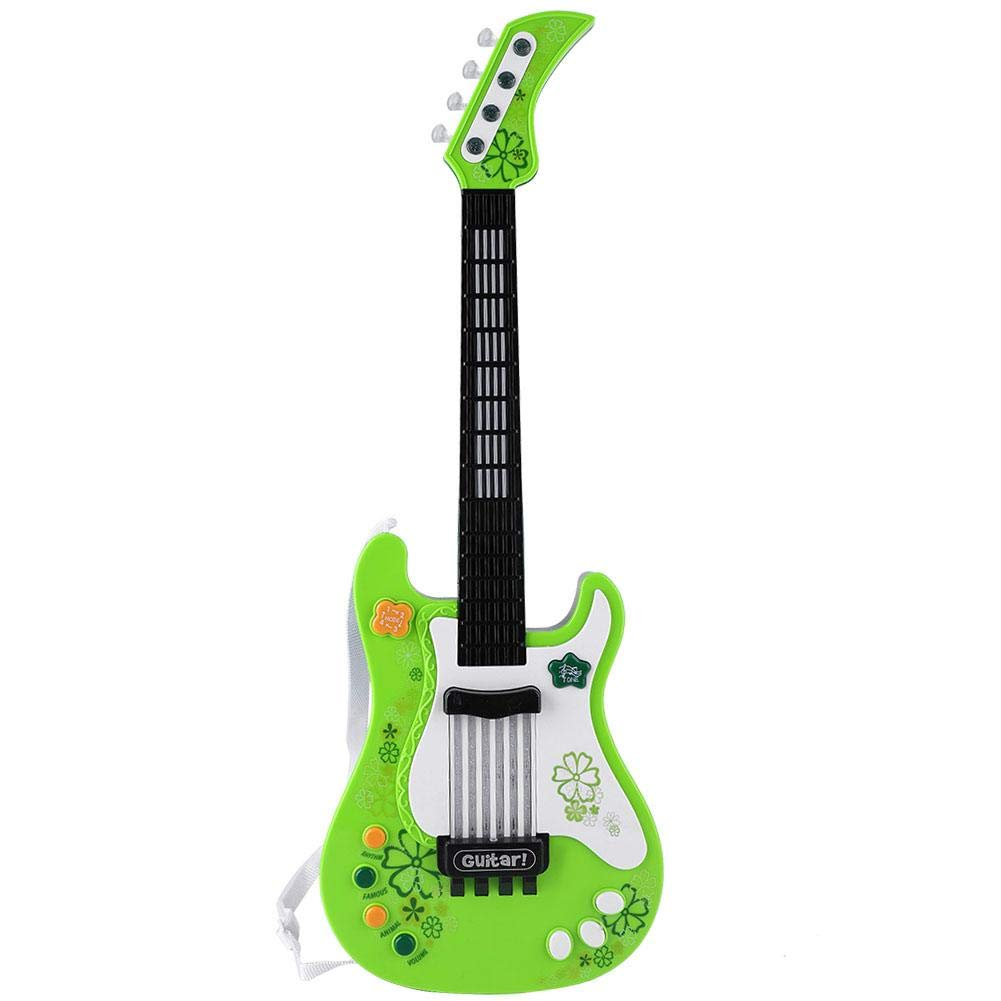 Children Music Guitar Kids Mini Guitar Toy Creative Acoustic Bass Infrared Induction LED Educational Instrument Musical Toy Ukulele Guitar (Green) by Alomejor