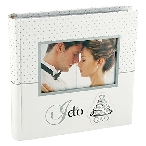International Album (Malden International Designs I Do Wedding Collection 2-Up with Memo Space Photo Album, 160-4x6, White)