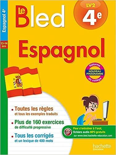 Amazon Fr Cahier Bled Espagnol 4e Bessais Caballero Ana Livres