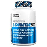Evlution Nutrition Carnitine500 500 mg of Pure L-Carnitine in Each Serving (Capsules, 120 Serving)