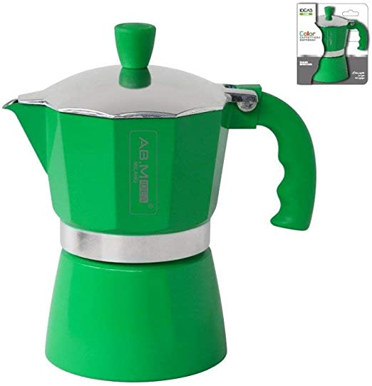 girm® – hx915735 Cafetera Verde- 1 taza – Moka colorata para café ...