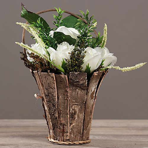 Situmi Artificial Fake Flowers The Floral Decorations Potted Plants Silk White Home Accessories Artificial Flower SituMi