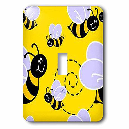 Bee Switchplate (3dRose LLC lsp_61130_1 Buzzy Bee Pattern Single Toggle Switch)