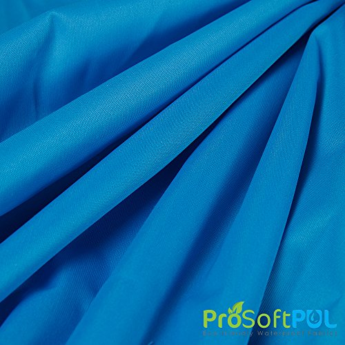ProSoft Waterproof 1 mil PUL Fabric with Teflon Shield+ Protector (Made in USA, Aqua, sold by the yard)