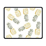 Golden Pineapple Pattern Office Rectangle Non-slip Rubber Mouse Pad Cool Gaming Mouse Pad For Laptop Displays Tablet Keyboard