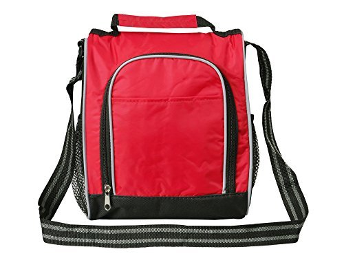 Lunch Box For Adults By Bayfield - Shoulder Strap Lunch Bags for Men Women - Red Reusable Lunch Bag for Work (Kokeshi Bento Container compare prices)